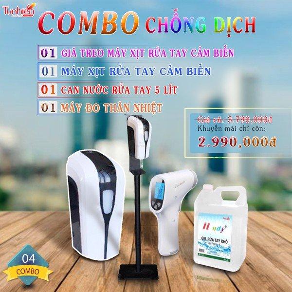Combo 04 sản phẩm bảo vệ sức khỏe mùa dịch